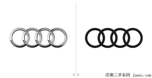 奥迪要换标,完全偏平化四个圈你喜欢吗图片
